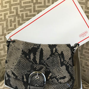 Coach Python Shoulder Bag - NEW!